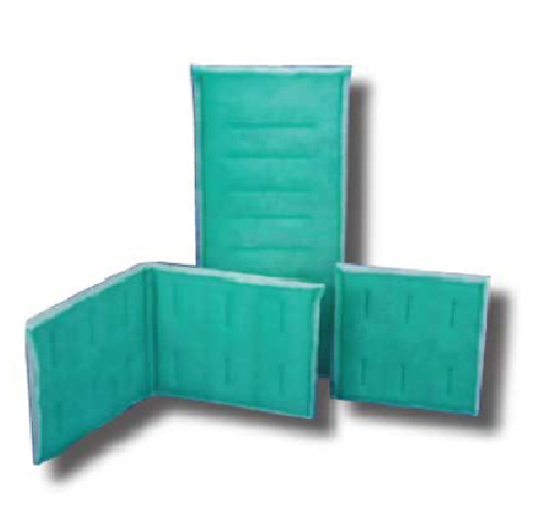 Series 65 paint booth filter 20 x 25 green white tacky for Paint booth intake filters 20x20