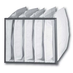 "45% Poly Pak™ Bag Filters 24"" X 24"" X 12"" 5 Pocket With Header Case Of 4"