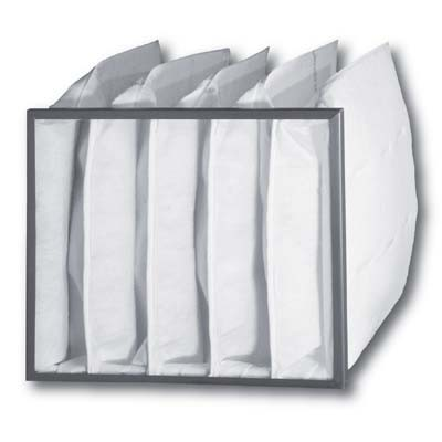 "Saima / Accudraft Prep 4000 Prefilter Bag 17 3/4"" X 23 1/2"" X 20"" 4 Pocket with Header Case of 3"